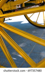 carriage wheel with spokes