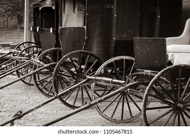 Carriages in a line