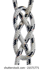 Carrick Bend knot isolated on white