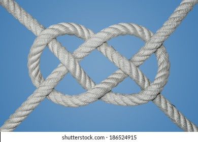 The carrick bend is a knot used for joining two lines. It is particularly appropriate for very heavy rope