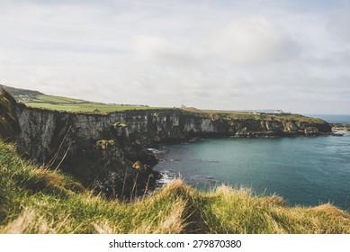 Carrick a Rede, Giants Causeway Coastal Footpath, County Antrim, Northern Ireland