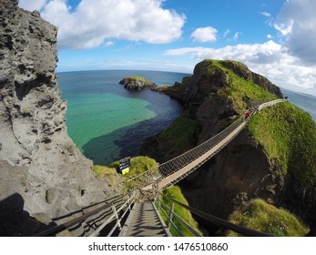 Carrick a rope bridge in North Antrim, Northen Ireland on June 15,2017