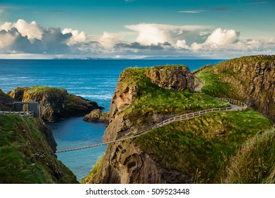 Carrick-a-rede  rope bridge, Famous place in Northern Ireland.