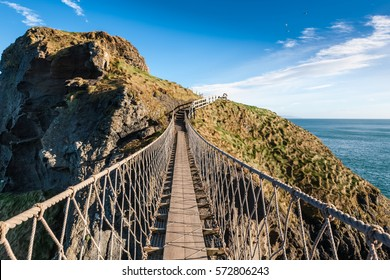 Carrick-a-rede rope bridge in North Ireland