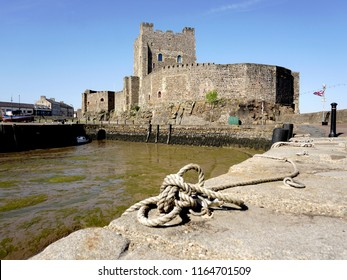 Carrickfergus Castle. A 12th century Norman Irish castle situated on the shore of Belfast Lough in Northern Ireland