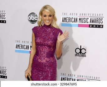 Carrie Underwood at the 2012 American Music Awards held at the Nokia Theatre L.A. Live in Los Angeles, USA on November 18, 2012.