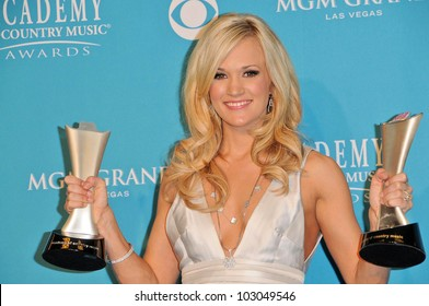 Carrie Underwood  at the 45th Academy of Country Music Awards Press Room, MGM Grand Garden Arena, Las Vegas, NV. 04-18-10