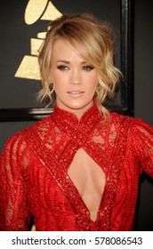 Carrie Underwood at the 59th GRAMMY Awards held at the Staples Center in Los Angeles, USA on February 12, 2017.