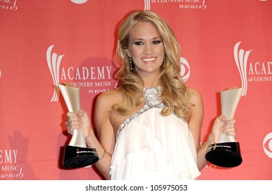 Carrie Underwood in the press room at the 44th Annual Academy of Country Music Awards. MGM Grand Garden Arena, Las Vegas, NV. 04-05-09