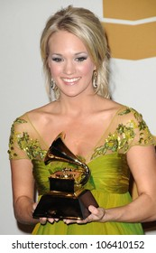 Carrie Underwood in the press room at the 51st Annual GRAMMY Awards. Staples Center, Los Angeles, CA. 02-08-09