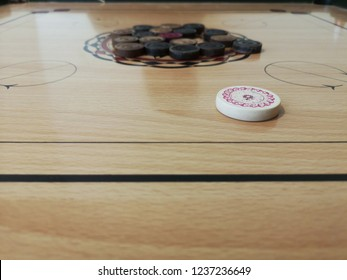 Carrom game in action