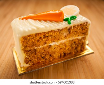 Carrot cake with white chocolate glaze
