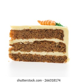 Carrot cakes isolated on white background
