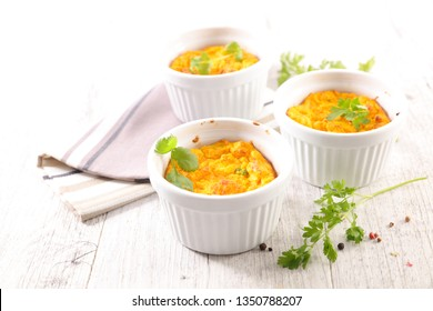 carrot cheese flan or souffle