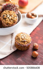Carrot cupcakes with oat flour and cranberries