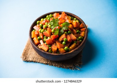 Carrot green peas sabzi / Gajar Mutter sabji