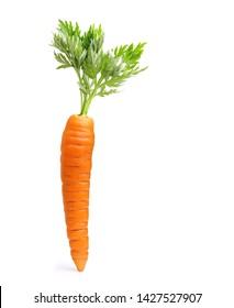 Karotte einzeln auf weißem Hintergrund