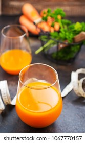 carrot juice and fresh carrot, stock photo