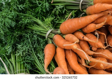 carrot in the market fresh and organic vegetable