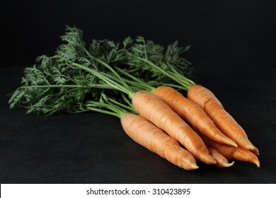 carrot on a black background