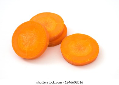 carrot slice isolated on white background