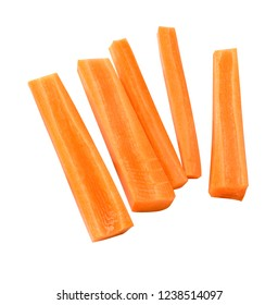 Carrot sticks isolated