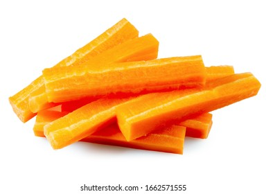 carrot sticks isolated on a white background