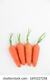 Carrots Decor on a White Background Isolated