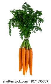 carrots isolated on white background