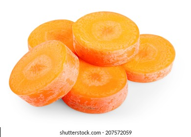 Carrots on white background. Clipping path
