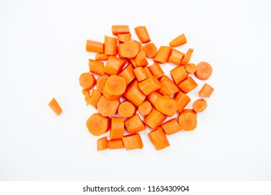 Carrots on a whtie background
