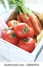 carrots & tomatoes