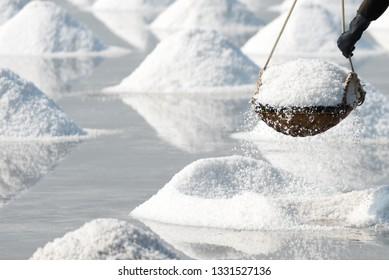 Carry salt basket with habd in glove