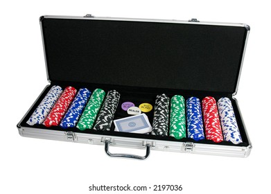 Carrying Case for Cards and Poker Chips  (with clipping path)