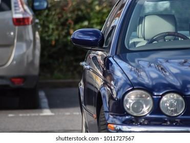 Cars in a car park. Bournemouth, Dorset, United Kingdom. 25 January 2018.