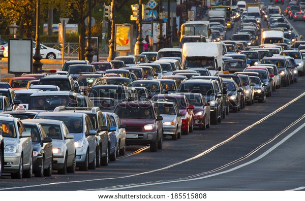 cars, city traffic, traffic jams, a stream of cars