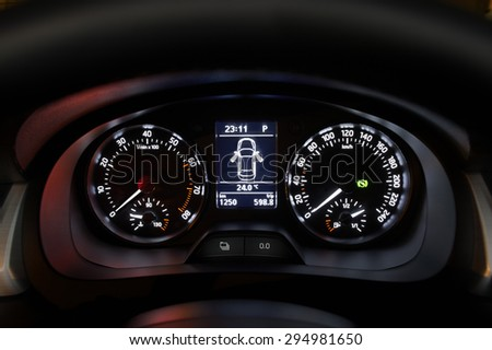 Cars Dashboard Alert Symbols Turned Off Stock Photo Edit Now