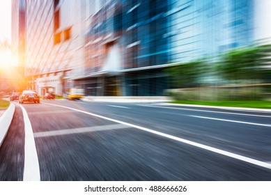 cars driving on inner city road of suzhou,china,asia.