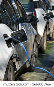 Cars at the electric charging station