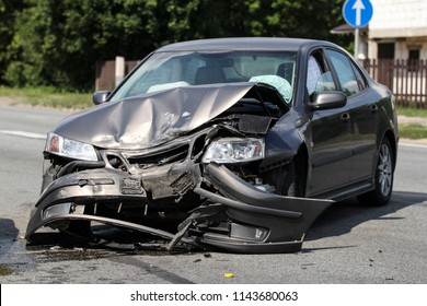 cars involved in a collision or crash