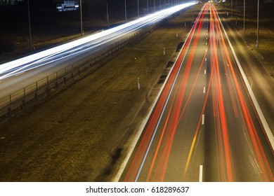 cars light in road