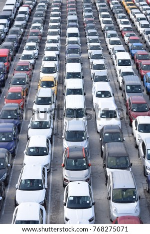 Cars Cars Cars Lots Cars On Stock Photo Edit Now 768275071