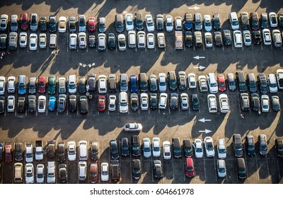 Cars in a parking
