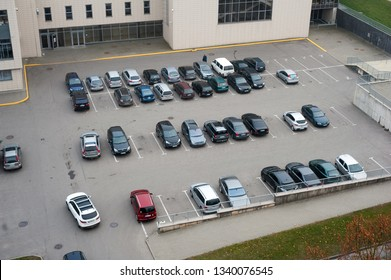 Cars in parking place