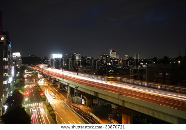 Cars Racing Night On Highway Street Stock Image Download Now