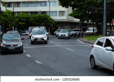 Cars in the street in a cloudy day Belo Horizonte, Minas Gerais, Brazil 01/11/2019