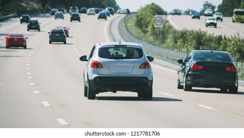 Cars traffic on highway