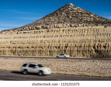 Cars traveling on I-10 in the desert