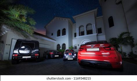 Cars & Villa / Palm Jumeirah, Dubai, UAE / 19.07.2016 / BMW X6M, Brabus G63/G700, BMW M6, Mini Cooper