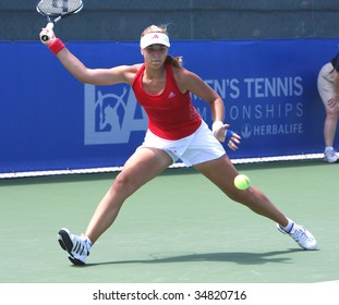 CARSON, CA - AUG. 4: WTA player, Sabine Lisicki from Germany, competing at the L.A. Women's Tennis Championships August 4, 2009 in Carson, California
